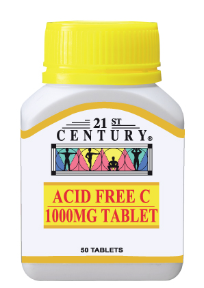 Acid Free Vitamin C 1000mg (from Calcium Ascorbate) 50 tablet