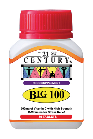 Big 100 - B Complex + Vitamin C 500mg, 50 tablets
