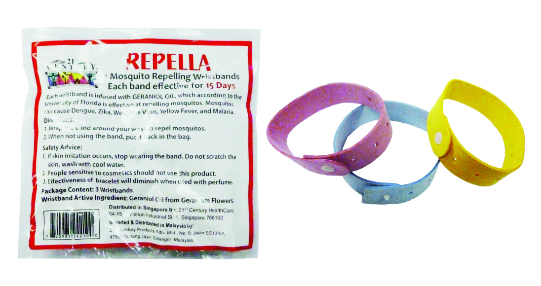 Mosquito Repelling Wristbands 3pcs, (Each effective for 15 days)