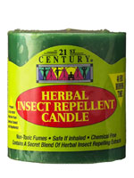 Herbal, Mosquito Repellent Candle, Not Toxic and Safe, 48 hr use